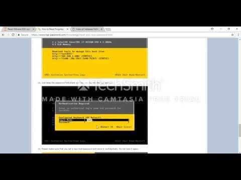 How to reset ESXi 5/6 Root Password