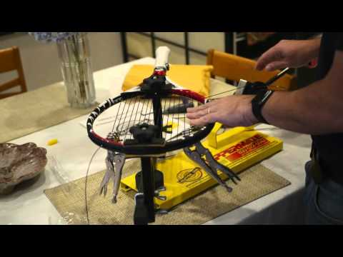 Stringing a Mantis Tennis Racquet with Klippermate Stringing Machine