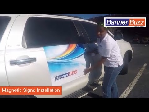 Magnetic Signs Installation by BannerBuzz