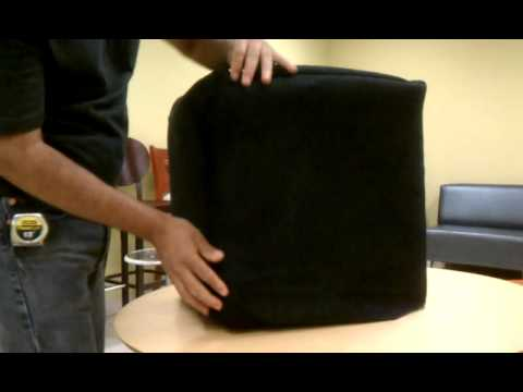 How to Slipcover a Cube Ottoman