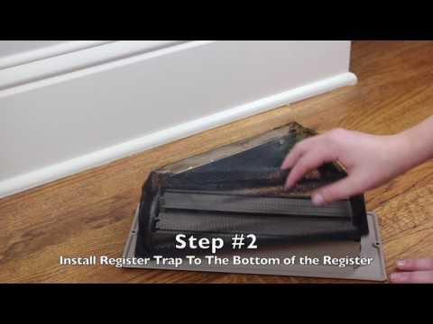 Floor Register Trap Install