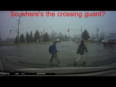 Mar 01 2017 Crossing Guard not doing their job Southworth and Ontario in Welland