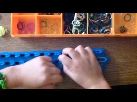 How to make Pokemon Pokeball Cazy Loom band