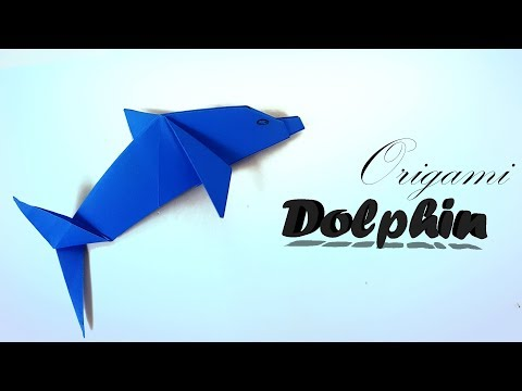 Origami Dolphin 🐬 - How to make an easy Origami Dolphin step by step tutorial for beginners & kids