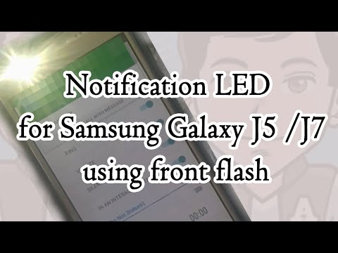get notification by front flash on galaxy j7 & galaxy j5