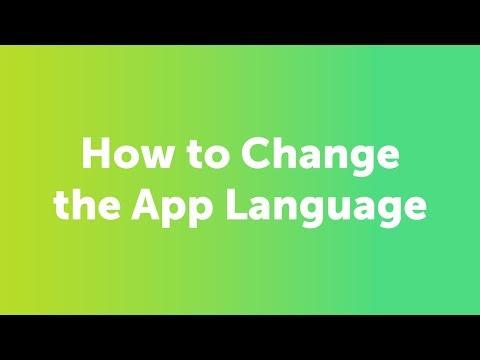 How Do I Change the App Language?