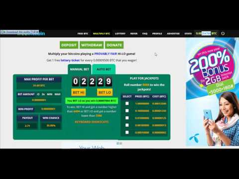 See my tricks Increase bitcoin From Freebitco.in easy  (just belive me) multiply bitcoin