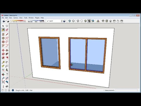 Sketchup How To Make Windows