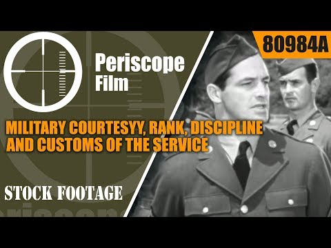 MILITARY COURTESY, RANK, DISCIPLINE AND CUSTOMS OF THE SERVICE 80984a