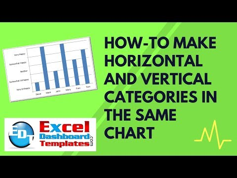 How-to Make Horizontal and Vertical Categories in the Same Excel Chart
