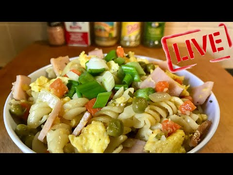 #GoodMorning 68 - Breakfast Pasta with Scrambled Egg and Vegetables - Healthy Breakfast Recipe