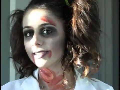 Zombie School Girl Halloween Tutorial