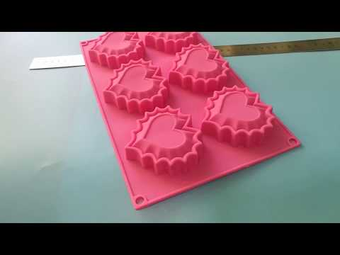 6-Cavity Heart Shape Silicone Mold for Bread, Cupcake, Cheesecake, Cornbread, Muffin, Brownie