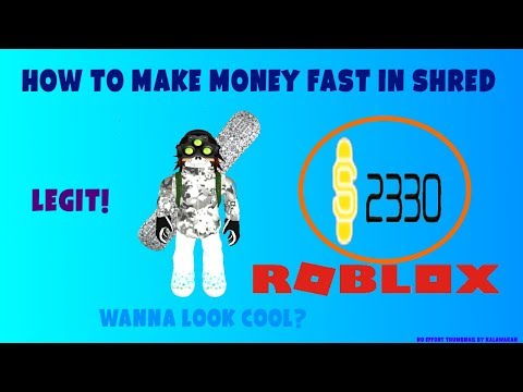 ROBLOX| HOW TO GET MONEY QUICK IN SHRED!