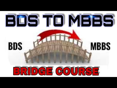 Download BDS to MBBS bridge course | government new policy