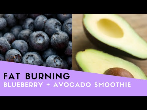 Blueberry + Avocado Fat Burning Smoothie Recipe!