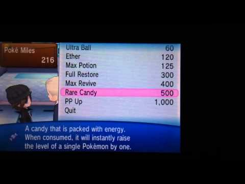 Pokemon X and Y how to get rare candy fast and get poke mil