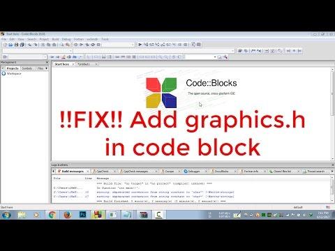 FIX !!! How to Run Graphics Program in Codeblocks (New WinBGIm file)