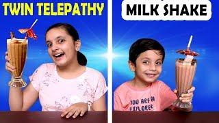 TWIN TELEPATHY MILK SHAKE CHALLENGE | Smoothie Challenge Aayu and Pihu Show