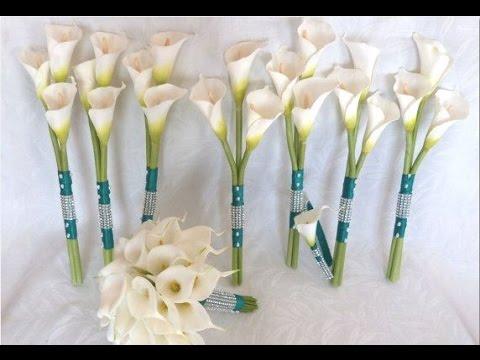 Mini Calla Lilies Wedding Bouquet