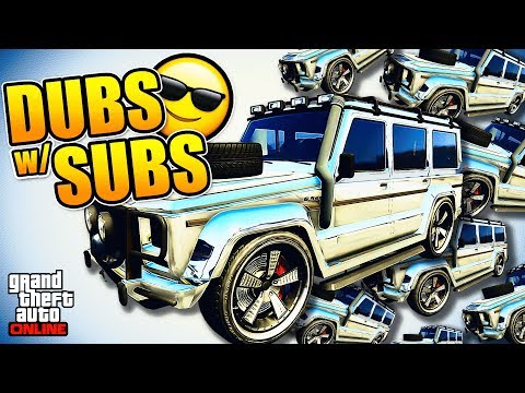 Helping Subscribers Spawn The RARE Chrome/Gold Dubsta II | GTA Online