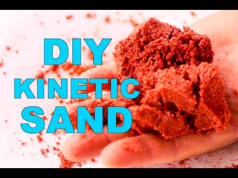 How to make Colored KINETIC SAND. 3 ways to make the KINETIC SAND. Homemade KINETIC SAND.