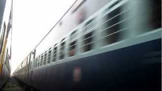 16866 Tea Garden with ERS Rebuilt WDM3A Alco 16457-R  Crossing 16107 at high speed..