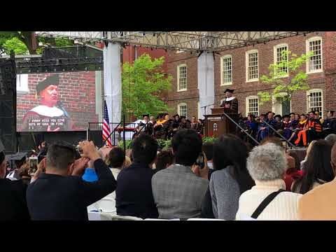 Sting sings at Brown University's 2018 Commencement