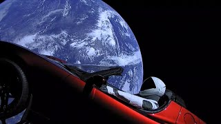 Tesla Sports Car Orbits Earth with Spaceman at the Wheel