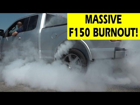 Lasco Ford Big Tire Sales Event - F150 2.7L Ecoboost Diff Lock Burnout