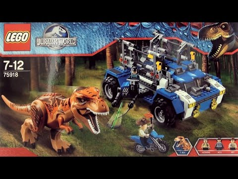Lego Jurassic World Tyrannosaurus Rex Dinosaur 75918 - Lego construction Tracker Vehicle