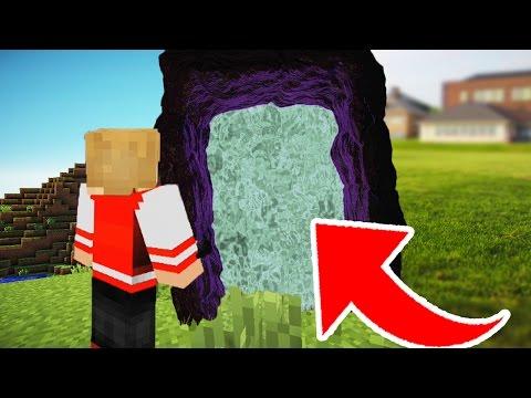 COMO FAZER UM PORTAL PARA VIDA REAL NO MINECRAFT ! (Minecraft Machinima)