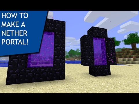 NETHER! How To Make A Nether Portal In Minecraft! PC/PS4/XBOX!