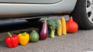 Crushing Crunchy & Soft Things by Car! - EXPERIMENT: VEGETABLES VS CAR