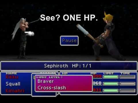 FFVII - Gameshark Goodies - Sephiroth's HP