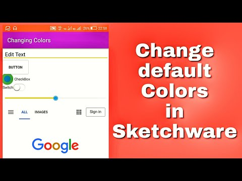 Changing colors in Sketchware latest version