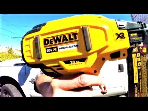 Dewalt 20v 18g Nailer Unboxing Test and Review