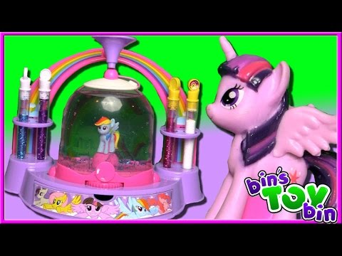 Let's Make My Little Pony Glitter Globes! | Fun Kids Craft Kit | Bin's Toy Bin