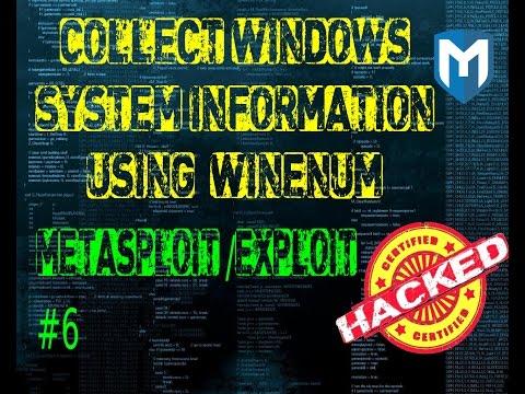 Metasploit  #6 How to get Windows system info using Winenum in Metasploit