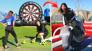 GIANT FOOTBALL DARTS FORFEIT CHALLENGES