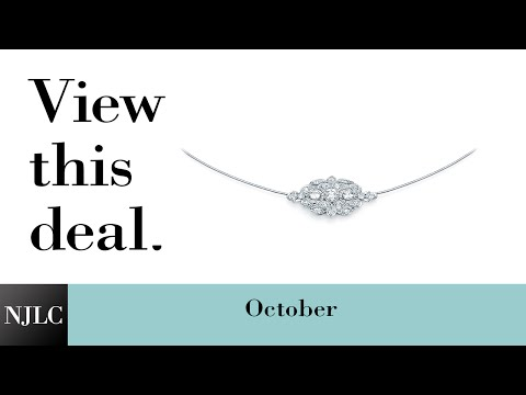 Deal of the Month: White Gold Vintage-Style Diamond Necklace