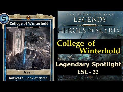ES Legends - ESL 32 - College of Winterhold ! (Legendary Support)