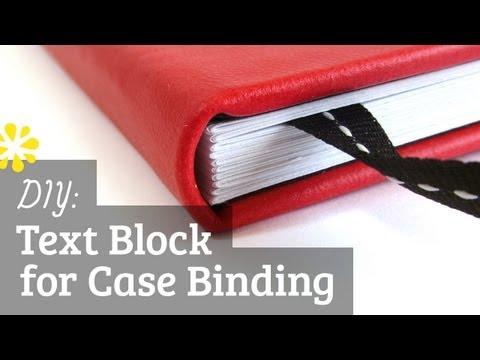 DIY Text Block | Case Bookbinding Tutorial | Sea Lemon