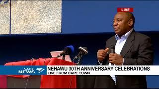 Cyril Ramaphosa addresses Nehawu 30th anniversary celebration