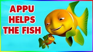 Short Stories for Kids - Appu helps the Fish