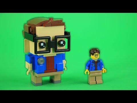 How to Build LEGO Dave Pickett from BRICK 101 | BrickHeadz and Minifigure (Sigfig)