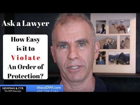 Is it Easy to Violate a New York Order of Protection?