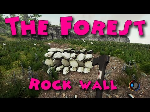 The Forest - How to build a rock wall