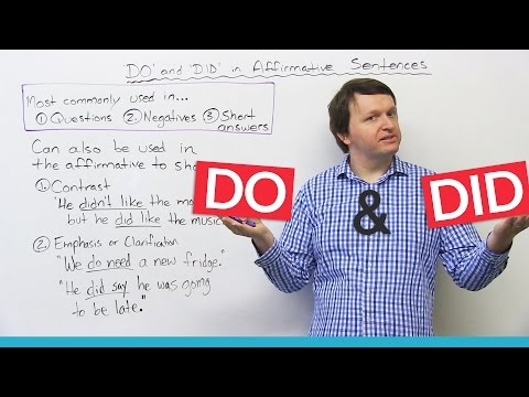 Grammar: Using DO and DID to make a strong point in English