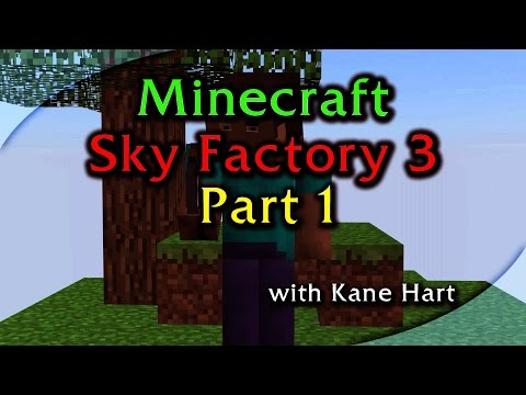 Sky Factory 3 - Part 1 - Tree Farm, Silkworm, String, Mesh, Sieve, Wooden Barrel!